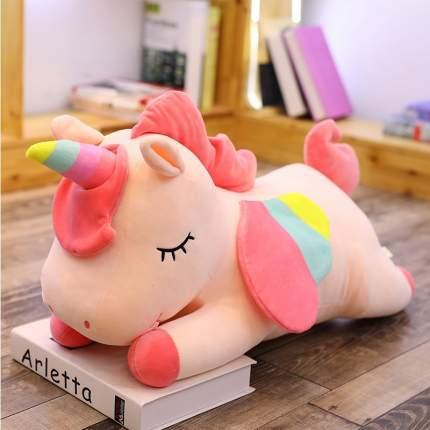 Мягкая игрушка CoolToys Лежачий Единорог розовый, 35 см