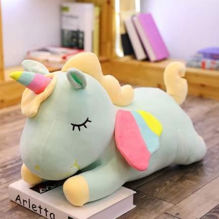 Мягкая игрушка CoolToys Лежачий Единорог голубой, 35 см