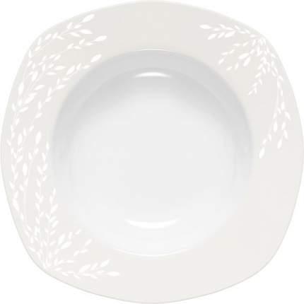 Тарелка суповая DOMENIK, WILLOW WHITE, 23x23 см