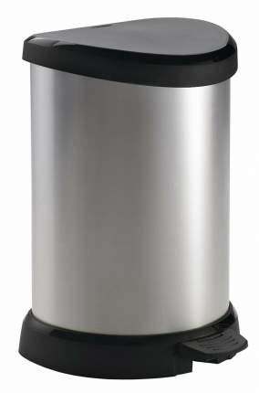 Контейнер для мусора DECO BIN черный-серебристый 20л