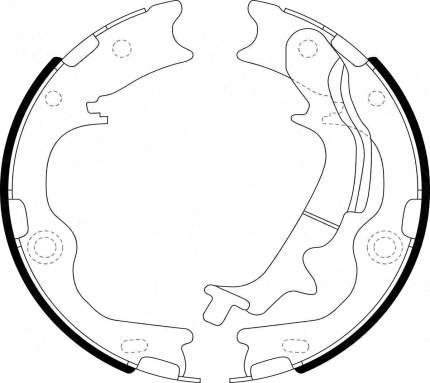Тормозные колодки барабанные PATRON PSP212