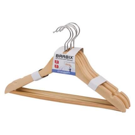 Набор вешалок для верхней одежды BRABIX, 36 см, 36-40, 5 шт