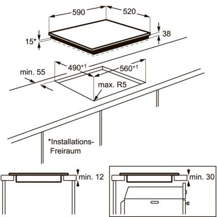 Встраиваемая варочная панель электрическая Electrolux EHV56240AK Black