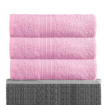 Полотенце BAYRAMALY Volna Цвет: Розовый 40х70 см