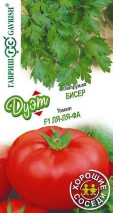 """Семена. Петрушка """"Бисер"""" (вес: 2 г)+томат """"Ля-ля-фа"""" (вес: 0,1 г)"""