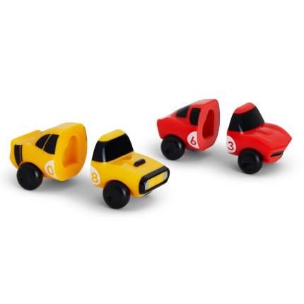 Игрушка для ванны Munchkin машинки желтая-красная magnet motors, 2 шт.