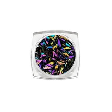 ruNail 3D-ромбы «Черный опал»