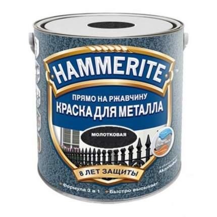 Эмаль по ржавчине молотковая Hammerite Hammered, черная 2,2л