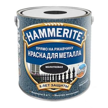 Эмаль по ржавчине молотковая Hammerite Hammered, салатовая  0,75л