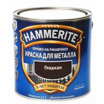 Эмаль по ржавчине гладкая Hammerite Smooth, коричневая 2,2л