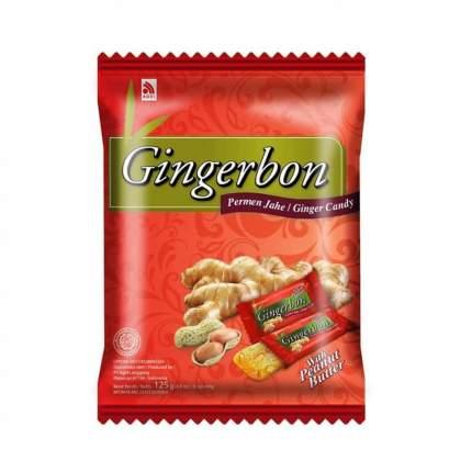 Конфеты имбирные GingerBon  с арахисом, жевательные  125 г