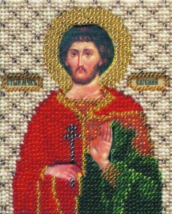 Набор для вышивания бисером Чарівна Мить Икона святой мученик Евгений Б-1077 11*9см