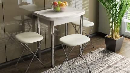 Стол обеденный с хромированными ножками Трия «Лион (мини)»