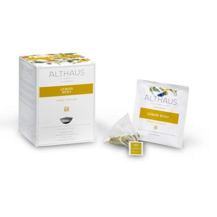 Чай травяной в пирамидках Althaus лемон минт 15*2.75 г