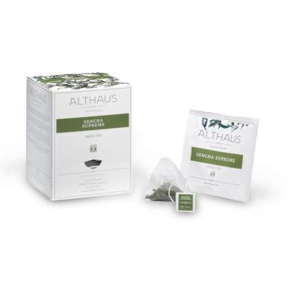 Чай зеленый в пирамидках Althaus Sencha Supreme Сенча Суприм 15*2.75 г