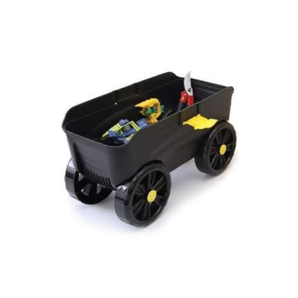 Ящик-подставка на колесах 4 в 1 (зеленый, черный)
