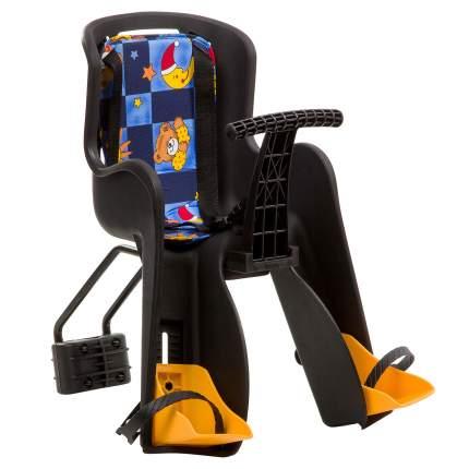Детское велокресло переднее STG GH-908E разноцветное/черное