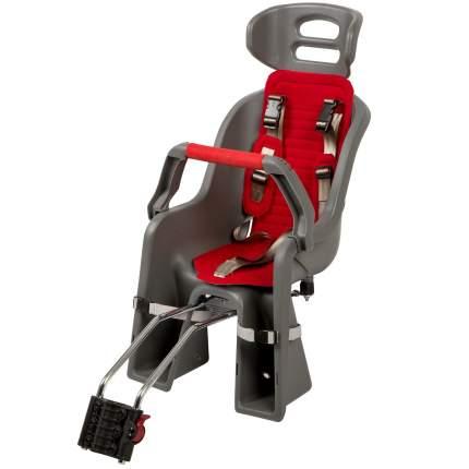 Детское велокресло заднее SW-BC-137 красное/серое