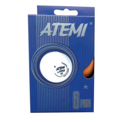 Мячи для настольного тенниса Atemi 1*, оранжевые, 6 штук