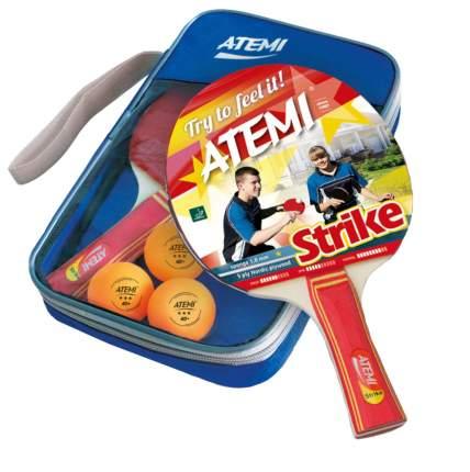 """Набор для настольного тенниса Atemi """"Strike"""" (2 ракетки+чехол+3 мяча***)"""