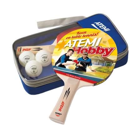 "Набор для настольного тенниса Atemi ""Hobby SM"" (2 ракетки+3 мяча*+чехол)"