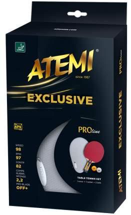 "Набор для настольного тенниса Atemi ""Exclusive"" (1 ракетка+чехол+2 мяча***)"