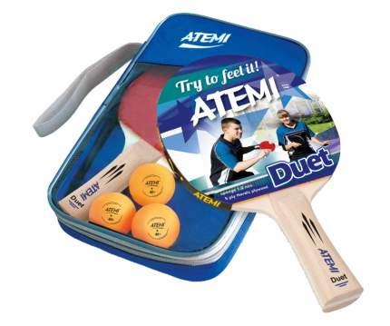 "Набор для настольного тенниса Atemi ""DUET"" (2 ракетки+чехол+3 мяча*)"