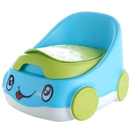 Детский горшок Home Comfort Веселая машинка, голубой