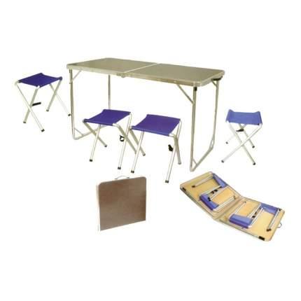 Набор туристической мебели Tramp (стол и 4 стула) в кейсе