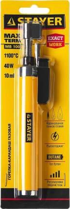 """Газовая горелка-карандаш """"MaxTerm"""" с пьезоподжигом, регулировка пламени, 1100 °С"""