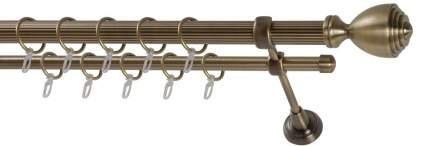 Карниз металлический стыкованный Палацио, WERDECO, 2-рядный, 200 см, цвет 25 мм/16 мм