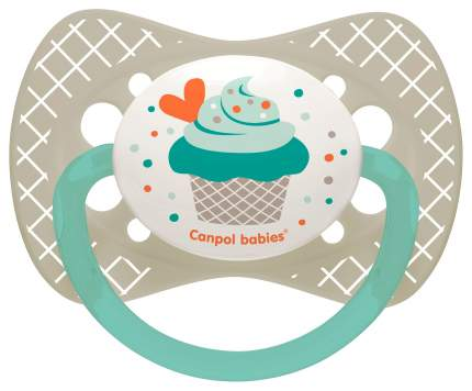 Пустышка симметричная силиконовая Canpol Babies Cupcake