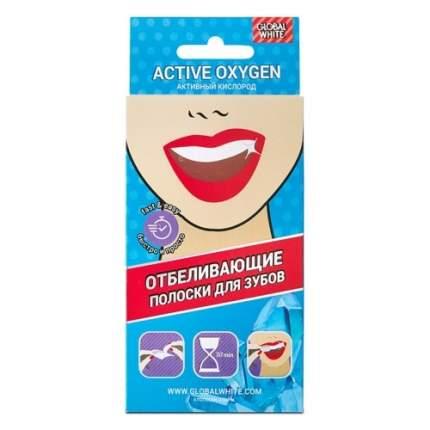 Полоски Global White Teeth Whitening Strips для Отбеливания Зубов, 2 саше