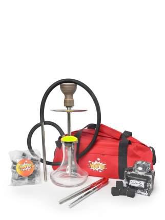 Кальян Mini Rapier Желтый с сумкой,чашей, калаудом, углем и щипцами и мундштуками Watta
