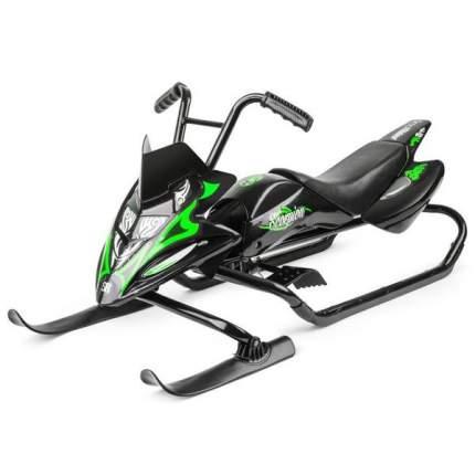 Снегокат-снегоход Small Rider Scorpion Duo черный с зеленым