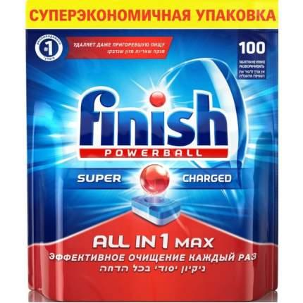 Таблетки для посудомоечной машины Finish all in 1 max super charged 100 штук