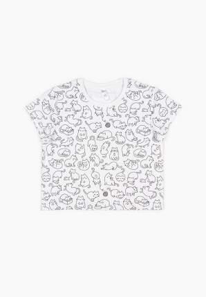 Пижама (топ брюки) для девочек Modis цв. белый р.122-128