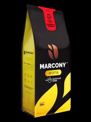 Кофе молотый MARCONY AROMA со вкусом  Клубники со сливками 200г