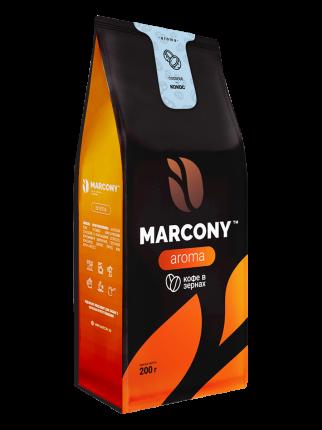 Кофе в зернах Marcony Aroma со вкусом Кокоса 200г