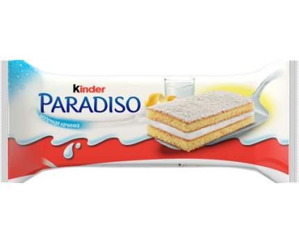Пирожное бисквитное Kinder Paradiso с молочной начинкой и вкусом лимона 29г