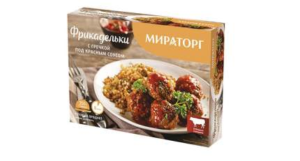 Фрикадельки Мираторг с гречкой под красным соусом замороженные 350 г