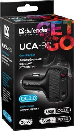 Автомобильное зарядное устройство Defender UCA-90 36W, USB QC3.0, Type-C/PD3.0