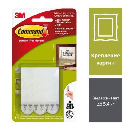 Набор Command 4 белые средние застежки для картин, 2 шт. (17201-2)