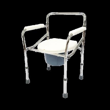 Кресло-туалет AKKORD-MIDI складной несъемные подлокотники