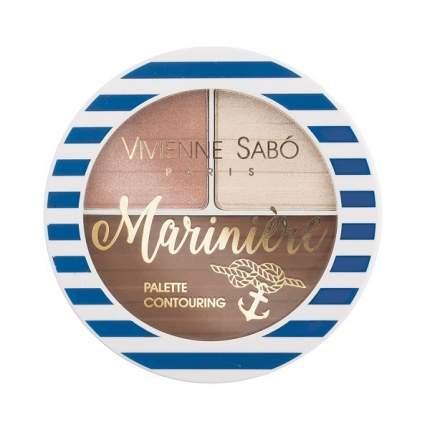 Палетка для скульптурирования лица Vivienne Sabo  Mariniere, тон 02
