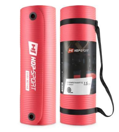 Коврик для фитнеса и йоги Hop-Sport HS-N010GM красный, 1 см