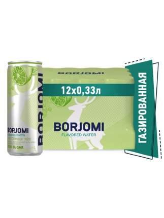 Напиток газированный Borjomi Flavored Water Лайм-Кориандр без сахара, ж/б 0.33 л (12 штук)