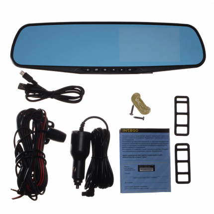 Зеркало с видеорегистратором INTEGO VX-410MR ,HD,2камеры,функция парковки