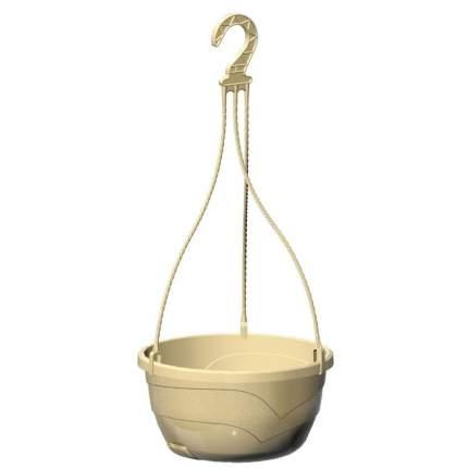 Кашпо подвесное Мальва диаметр 25х13 см цвет кремовый