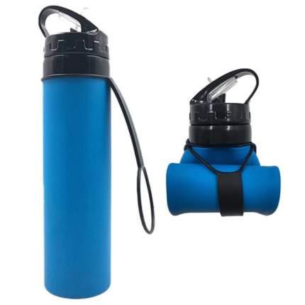 Складная спортивная бутылка из силикона TND 600 мл.